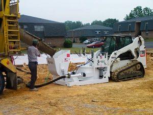 RD6536-SSP-002 concrete pump mixer attachment for skid steer hydraulic field work