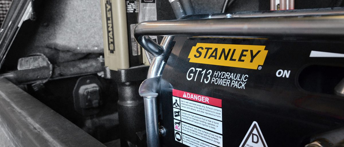 Stanley power pack for hydraulic tools portable in manitoba for rent or purchase sale lease