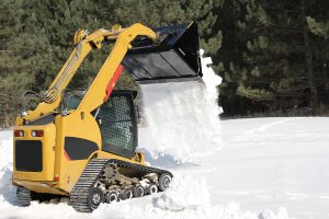 light material bucket for skid steers like snow dumping