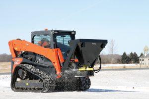 Erskine salt sand spreader attachment skid steer