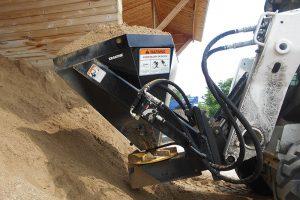scoop load Erskine salt sand spreader attachment