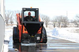 clean road Erskine salt sand spreader attachment