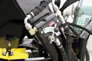 Erskine salt sand spreader hydraulic hoses closeup