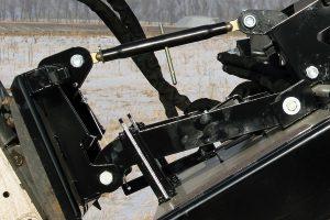 large skid steer dual mower detail