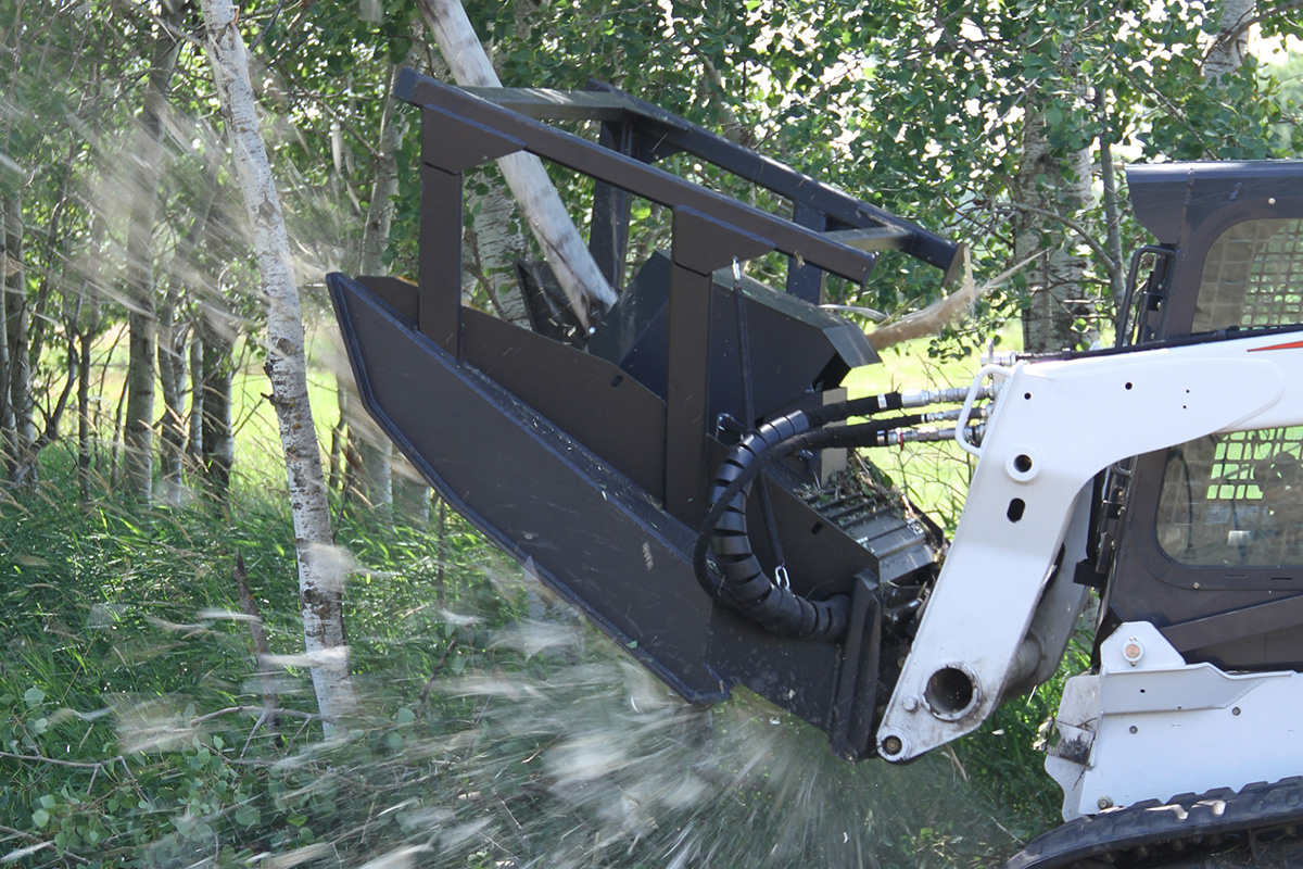 Erskine Forestry Mulching Mower Attachment for skid steers