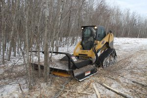 Extreme Heavy-Duty Brush Mower skid steer