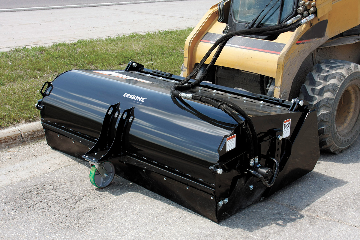 Erskine Pickup Broom For Skid Steers Accudraulics