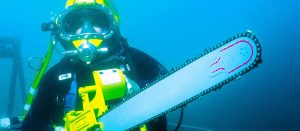 underwater concrete saw hydraulic